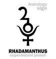 astrology planet rhadamanthus vector image vector image