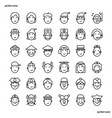 avatar outline icons perfect pixel vector image vector image
