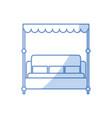 bed room symbol vector image vector image