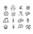 black building icons in simple style building vector image vector image