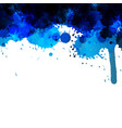 blue abstract ink wash painting vector image vector image