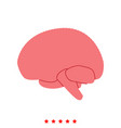 brain icon different color vector image vector image