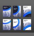 brochure cover design templates set vector image
