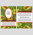 brouchure with yellow ornamental pattern vector image