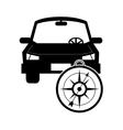 car and compass icon vector image