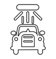 car wash icon outline style vector image