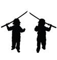 child with samurai sword set vector image vector image