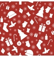 Christmas seamless red pattern vector image vector image