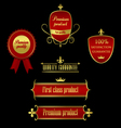 collection golden-red labels - product quality vector image vector image