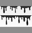 drip paint 3d set ink stain drop melt liquid vector image vector image