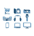 electronics Icons set vector image vector image