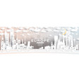 europe city skyline in paper cut style vector image vector image