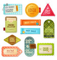 Fabric Label Set vector image vector image