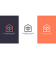 flower house logo design vector image vector image