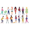 group male and female people modern vector image