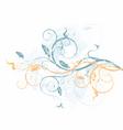 grunge floral vine vector image vector image