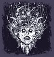 halloween demon vector image vector image