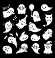 halloween ghost character cute ghost clip vector image vector image