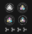 hand spinner emblems vector image vector image