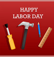 happy labor day concept background realistic vector image