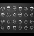 icon set 24 faces of boys vector image vector image