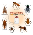 Insecticides set in flat style vector image vector image