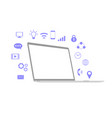 laptop with communication symbol vector image vector image