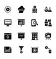 list seo and web solid icons vector image vector image