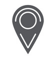 location glyph icon pin and navigation map vector image