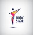 man logo human body l vector image vector image