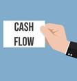 man showing paper cash flow text vector image