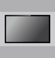 modern tv with blank screen isolated on vector image vector image