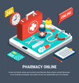online pharmacy concept vector image vector image