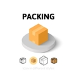 Packing icon in different style vector image vector image