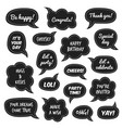 party props photo booth comic speech bubbles vector image vector image
