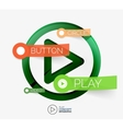 play button infographic concept vector image