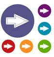 Pointer icons set