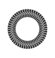 print wheel tire shape black icon graphic vector image vector image