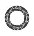 Print wheel tire shape black icon graphic