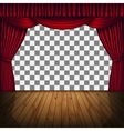 red curtain stage vector image vector image