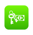 safe money icon green vector image vector image
