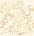 seamless wallpaper pattern with hand drawn swirls vector image vector image