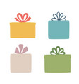 set boxes silhouette a gift box it is well vector image vector image