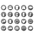 Set of icons volleyball vector image vector image