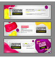 Set with banners for web site vector image vector image