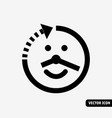 smile long life symbol black and white icon vector image