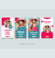 social media post design template vector image vector image