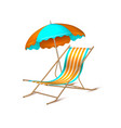 summer vacation realistic umbrella lounger vector image vector image