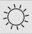 sun icon sun with ray symbol vector image vector image