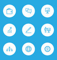 trade outline icons set collection of growing vector image vector image
